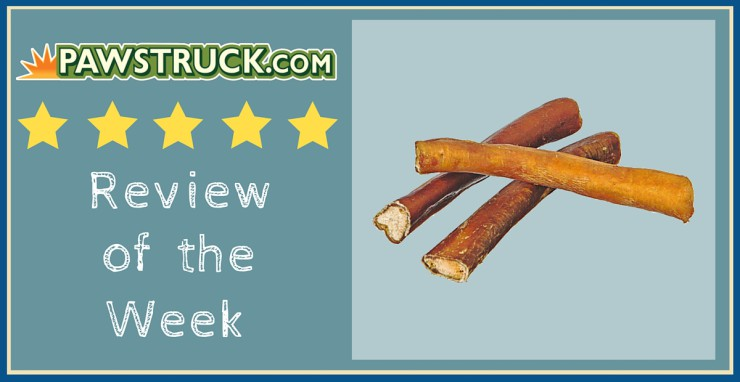 """Click here to read a Pawstruck customer's review of 5"""" Straight Bully Sticks (Small Thickness)."""