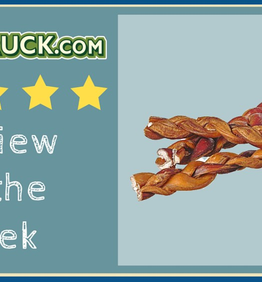 "Click here to read a Pawstruck customer's review of our 9"" Braided Bully Sticks."